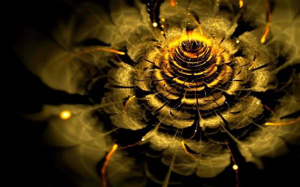golden_flower_blossom_petals_abstract_3d_cg_hd-wallpaper-1303933
